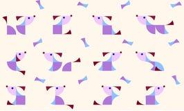 Illustratie van geometrische honden in duplex Royalty-vrije Stock Foto's