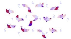 Illustratie van geometrische katten in duplex Stock Fotografie