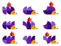Illustratie van geometrische katten in duplex Stock Afbeelding