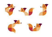 Illustratie van geometrische vossen in duplex Royalty-vrije Stock Foto