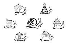 Illustratie van gestileerde slak Royalty-vrije Stock Afbeelding