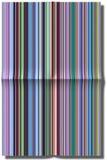 Illustratie van gevouwen strepen van document Stock Foto's