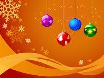 Illustratie van giftbox en ballon Stock Foto's