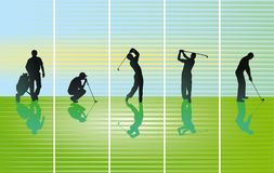 Illustratie van golfschoten stock illustratie