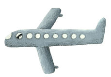 Illustratie van grijs vliegtuig Royalty-vrije Stock Fotografie