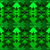 Illustratie van groen Keltisch patroon Royalty-vrije Stock Afbeelding