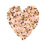 Illustratie van grote die hartvorm met harten wordt gevuld Royalty-vrije Stock Afbeelding