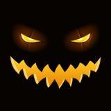 Illustratie van Halloween-pompoen Stock Afbeeldingen