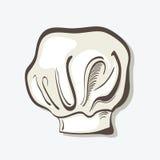 Illustratie van hand getrokken chef-kokhoed Stock Afbeelding