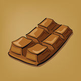 Illustratie van hand getrokken chocoladereep Stock Afbeeldingen