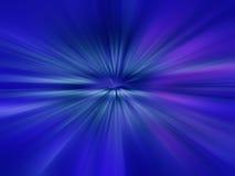 Illustratie van heldere flits, explosie of uitbarsting op blauwe bac Stock Foto