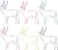 Illustratie van herten Stock Afbeeldingen