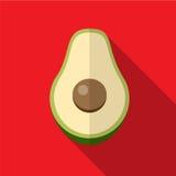 Illustratie van het avocado de vlakke pictogram vector illustratie