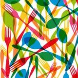 Illustratie van het bestek de naadloze patroon stock illustratie