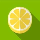 Illustratie van het citroen de vlakke pictogram stock illustratie
