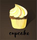 Illustratie van het Cupcake de Vectorbeeldverhaal Stock Afbeeldingen