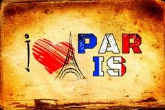 Illustratie van het de kunstontwerp van Parijs de uitstekende Royalty-vrije Stock Foto's