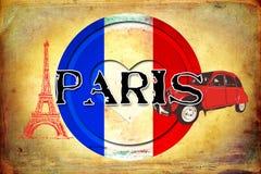 Illustratie van het de kunstontwerp van Parijs de uitstekende Royalty-vrije Stock Fotografie
