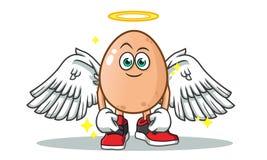 Illustratie van het de mascotte de vectorbeeldverhaal van de eiengel stock illustratie