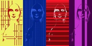 Illustratie van het gezicht van een vrouw Stock Fotografie