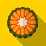 Illustratie van het guave de vlakke pictogram stock illustratie