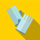 Illustratie van het handschoen de vlakke pictogram royalty-vrije illustratie