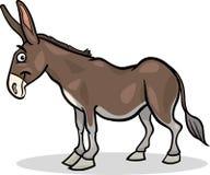Illustratie van het het landbouwbedrijf de dierlijke beeldverhaal van de ezel Stock Afbeelding