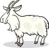 Illustratie van het het landbouwbedrijf de dierlijke beeldverhaal van de geit Stock Foto