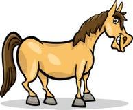 Illustratie van het het landbouwbedrijf de dierlijke beeldverhaal van het paard Stock Foto