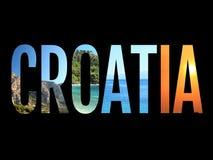 Illustratie van het het teken de conceptuele beeld van Kroatië vector illustratie