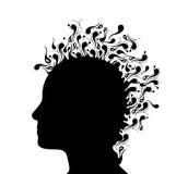 Illustratie van het hoofd van een vrouw. Stock Fotografie