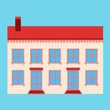 Illustratie van het huis de vlakke teken Stock Afbeeldingen