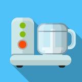 Illustratie van het keukenmachine de vlakke pictogram stock illustratie