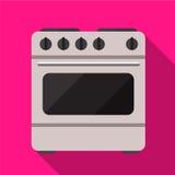 Illustratie van het kooktoestel de vlakke pictogram royalty-vrije illustratie