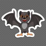 Illustratie van het Leuke de knuppel van Beeldverhaalhalloween vliegen vector illustratie