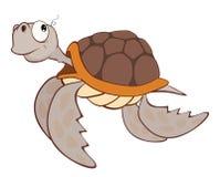 Illustratie van het Leuke Karakter van het Zeeschildpadbeeldverhaal Royalty-vrije Stock Foto's