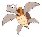Illustratie van het Leuke Karakter van het Zeeschildpadbeeldverhaal Royalty-vrije Stock Foto