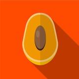 Illustratie van het mango de vlakke pictogram stock illustratie