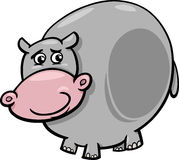 Illustratie van het nijlpaard de dierlijke beeldverhaal Royalty-vrije Stock Foto's