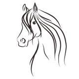 Illustratie van het paard wild Royalty-vrije Stock Foto's