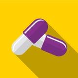 Illustratie van het pillen de vlakke pictogram vector illustratie