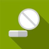 Illustratie van het pillen de vlakke pictogram royalty-vrije illustratie