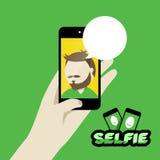 Illustratie van het Selfie de vlakke ontwerp Royalty-vrije Stock Fotografie