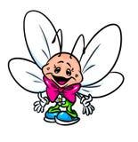 Illustratie van het vlinder de grappige beeldverhaal Stock Afbeeldingen