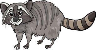Illustratie van het wasbeer de dierlijke beeldverhaal Royalty-vrije Stock Fotografie