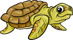 Illustratie van het zeeschildpad de dierlijke beeldverhaal Royalty-vrije Stock Foto