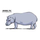 Illustratie van hippo Stock Fotografie