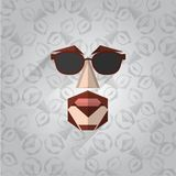 Illustratie van hipstergezicht Stock Fotografie
