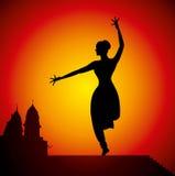 Illustratie van Indische klassieke danser royalty-vrije illustratie