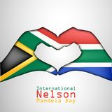 Illustratie van Internationaal Nelson Mandela Day Background Royalty-vrije Stock Foto's